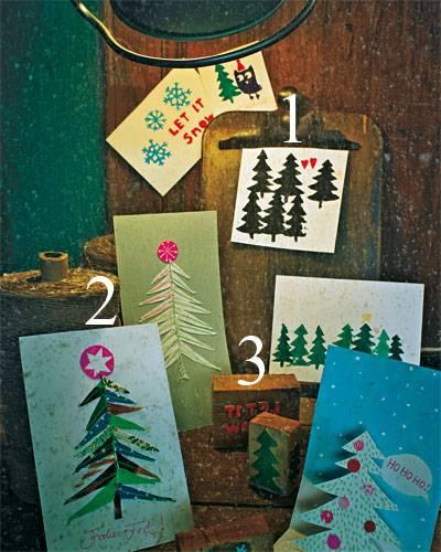Außergewöhnliche Weihnachtskarten selber machen