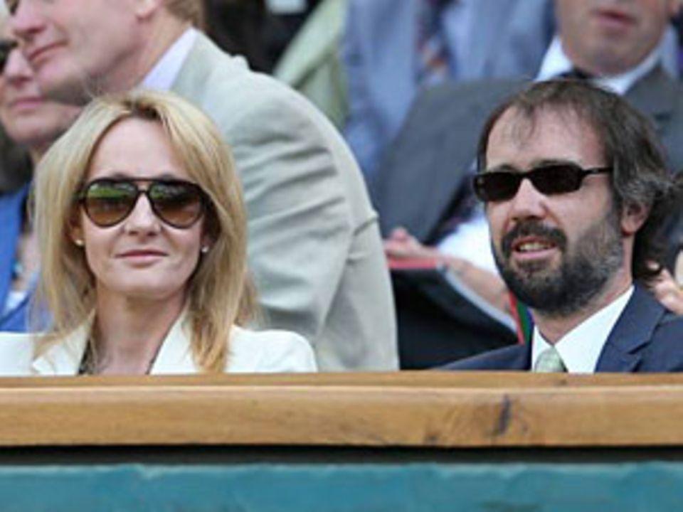 J.K. Rowling und ihre Ehemann Neil Murray bei den Olympischen Spielen 2012 in London.