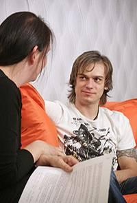 Beim Interview stellte Katja fest: Thomas ist genauso nett wie er im Fernsehen wirkte.