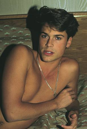 Rob Lowe by Nan Goldin 1983 Vanity Fair, February 1984