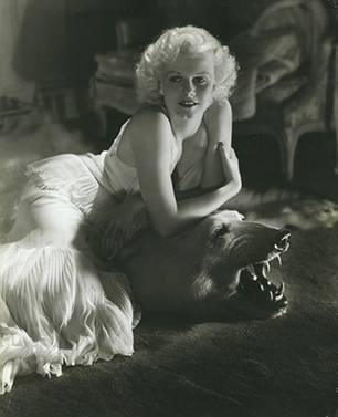 Jean Harlow at home by George Hurrell 1934 Vanity Fair, January 1935