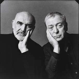 Sean Connery and Michael Caine by Michael O'Neill 1998 Vanity Fair, April 1999
