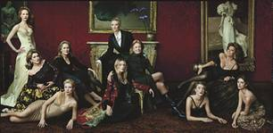Legends of Hollywood by Annie Leibovitz 2001 L-R: Nicole Kidman, Catherine Deneuve, Meryl Streep, Gwyneth Paltrow, Cate Blanchett, Kate Winslet, Vanessa Redgrave, Cloe Sevigny, Sophia Loren, Penélope Cruz Vanity Fair, April 2001