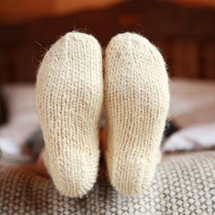 Socken gegen Erkältung