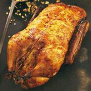 Ente mit Honig-Pomeranzen-Glasur