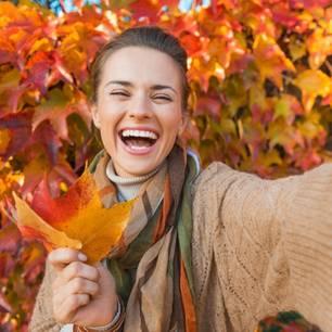 Glücklich im Herbst