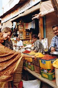 Auf dem Gewürzbasar in Bikaner