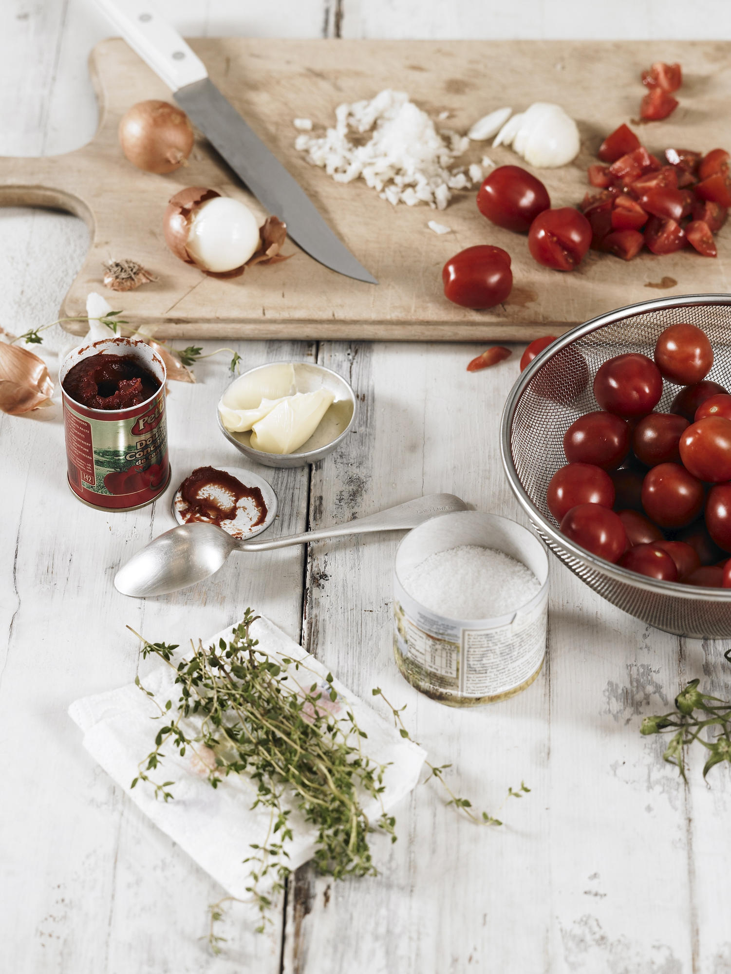 Zutaten für Tomatensuppe