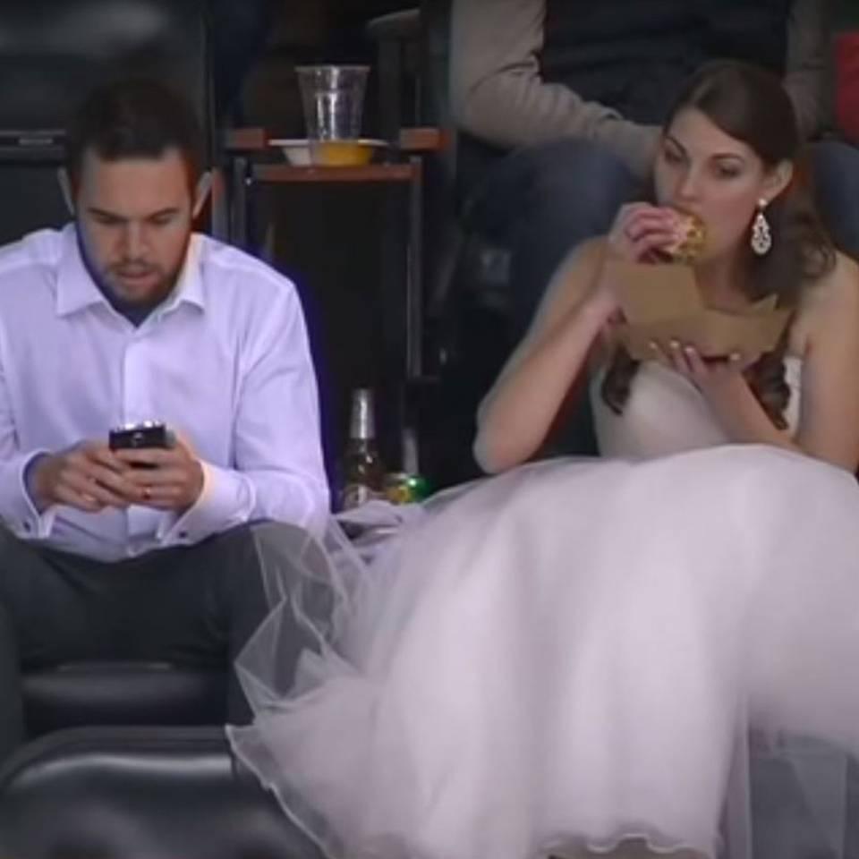 Sind diese beiden das coolste Brautpaar der Welt?