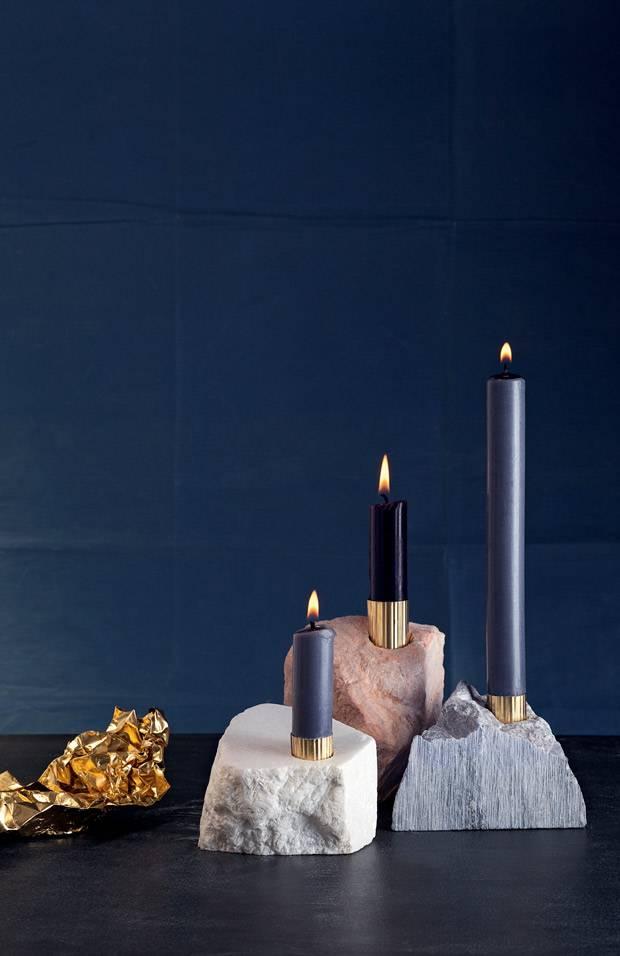 kerzenhalter einfach basteln, anleitung: kerzenständer aus speckstein selber machen | brigitte.de, Design ideen