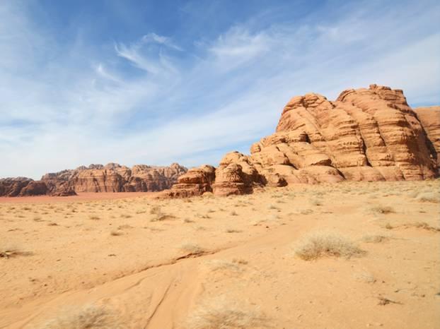 Die Weite der Wüste Wadi Rum