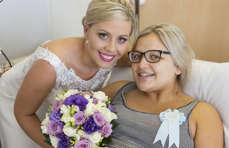 Brautjungfer bekommt ihr Baby am Tag der Hochzeit - da bringt die Braut die Hochzeit zu ihr!