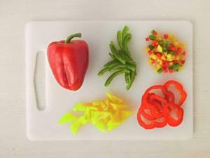 Gemüse: Paprika schneiden