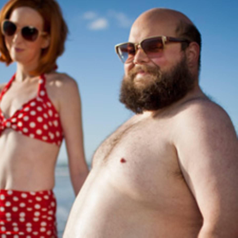 Bauch mann mit Mann mit