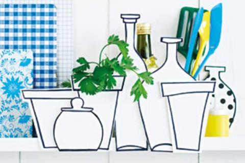 Küchen-Deko: Hübsches Versteck für Kochutensilien