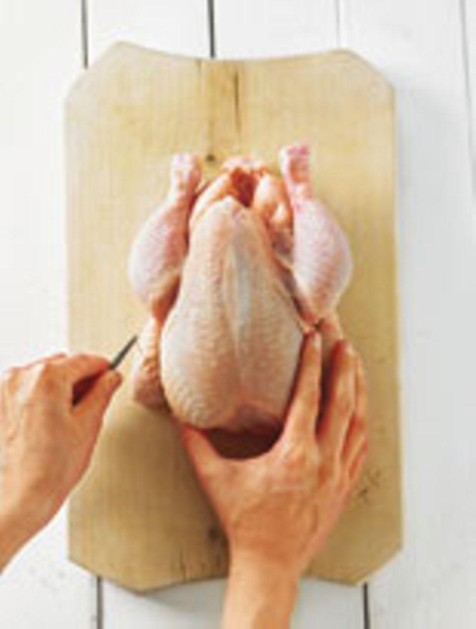 Huhn tranchieren