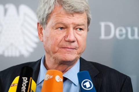 Wolfgang Wieland ist Obmann der Grünen im NSU-Untersuchungsausschuss im Bundestag und Mitglied im Innenausschuss. Er besuchte am Dienstag den Münchner NSU-Prozess.