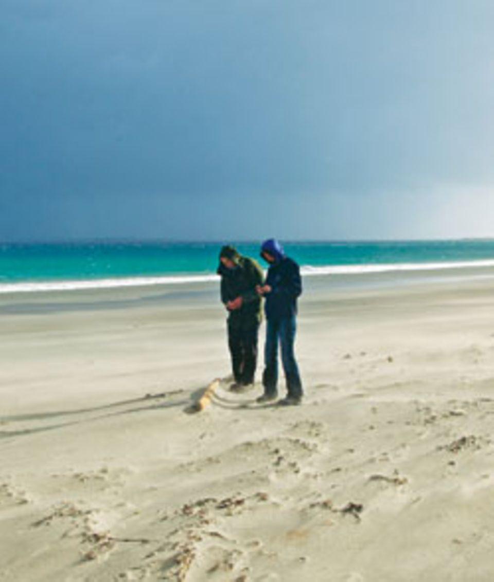 Strandvergnügen auf Schottisch