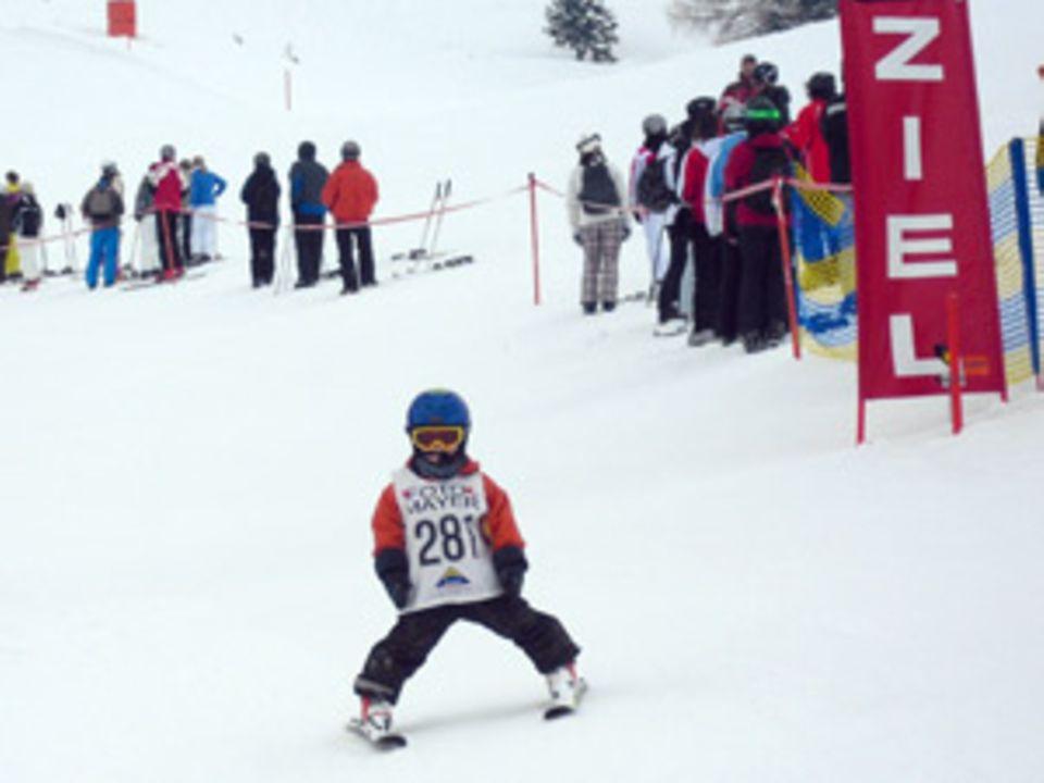 Highlight der Skiwoche: Das Rennen für die Kleinsten