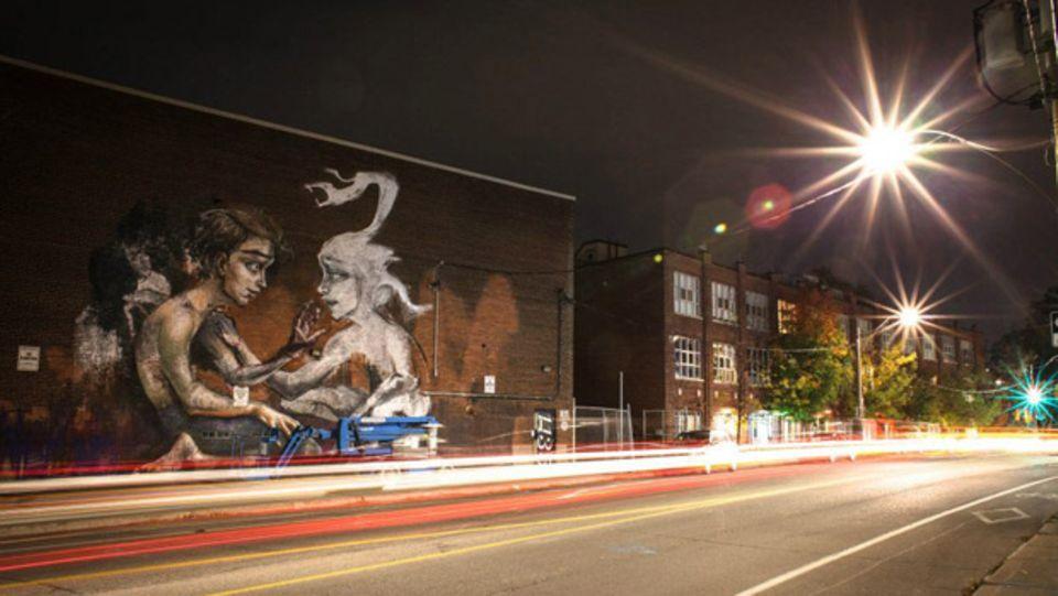 Vier bis fünf Tage dauert es, bis ein Graffiti wie das in Toronto in Kanada fertig ist.