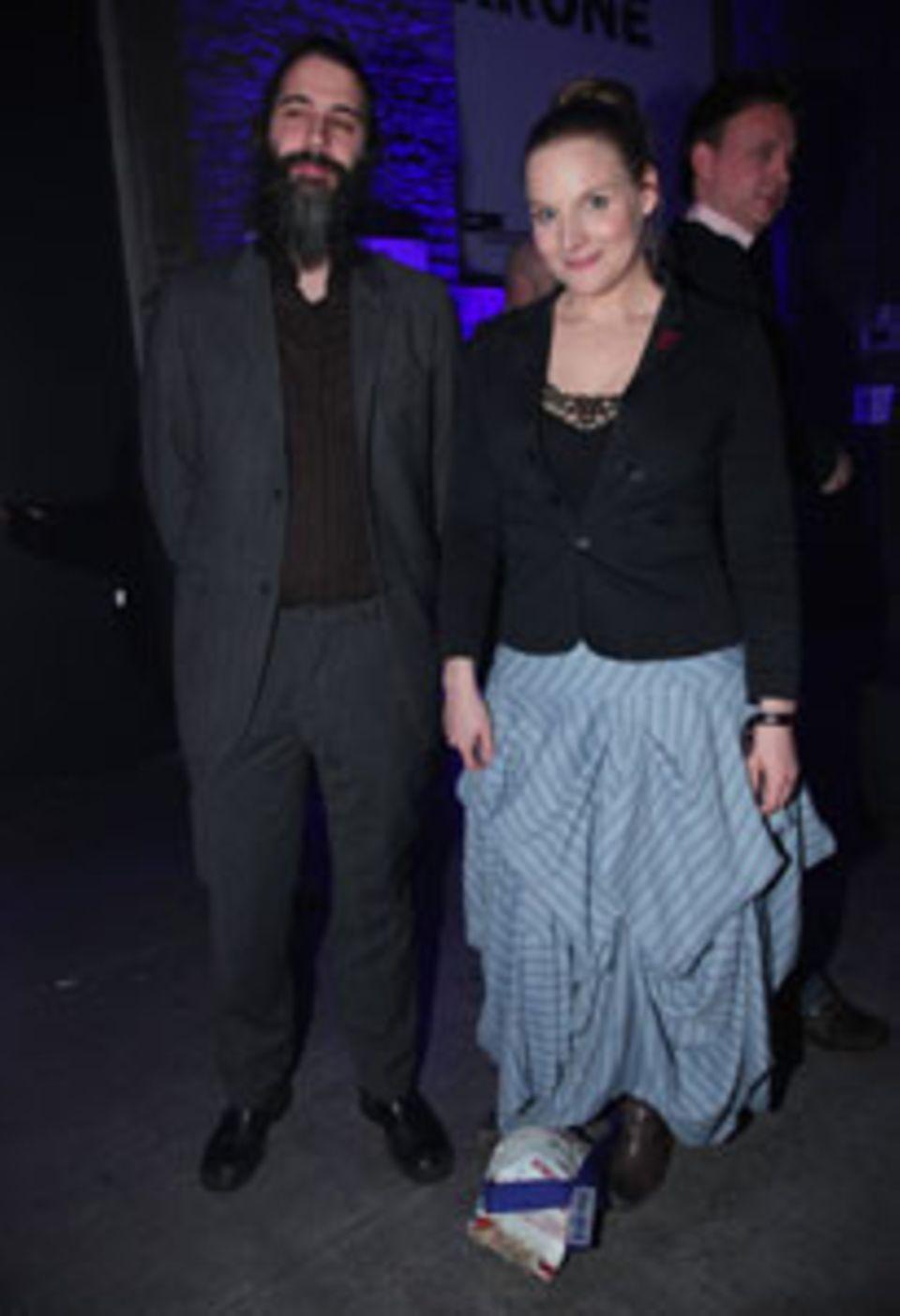 Judith Holofernes und ihr Mann, Schlagzeuger Pola Roy, 2010. Die beiden haben zwei Kinder, 7 und 4 Jahre alt