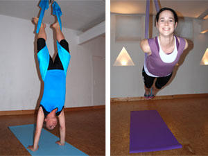 Flying Pilates: Schwebend das Krafthaus trainieren