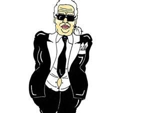Diskriminierung: So sieht der italienische Illustrator AleXsandro Palombo den Modedesigner Karl Lagerfeld.