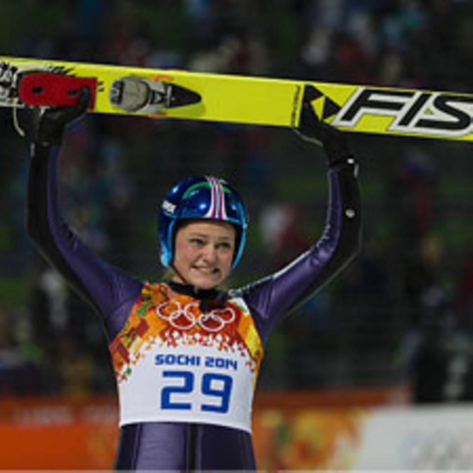Olympia: Carina Vogt fliegt zur Goldmedaille