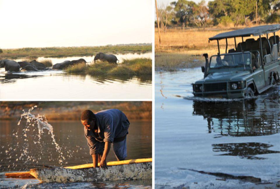 Schon lange haben die Flüsse nicht mehr den Fischreichtum wie einst, aber noch immer findet der Fischfang von Einbaumbooten aus statt.