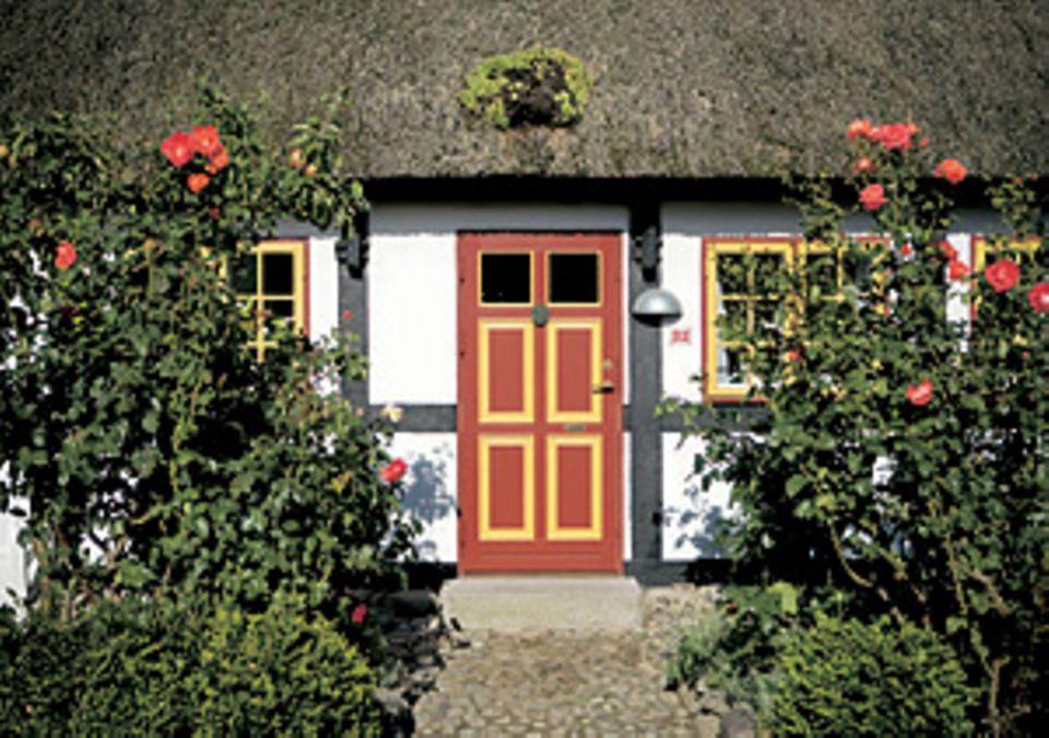 Haus in Nordby, blumenumrankt: Gibt es ein Öko-Dornröschen?