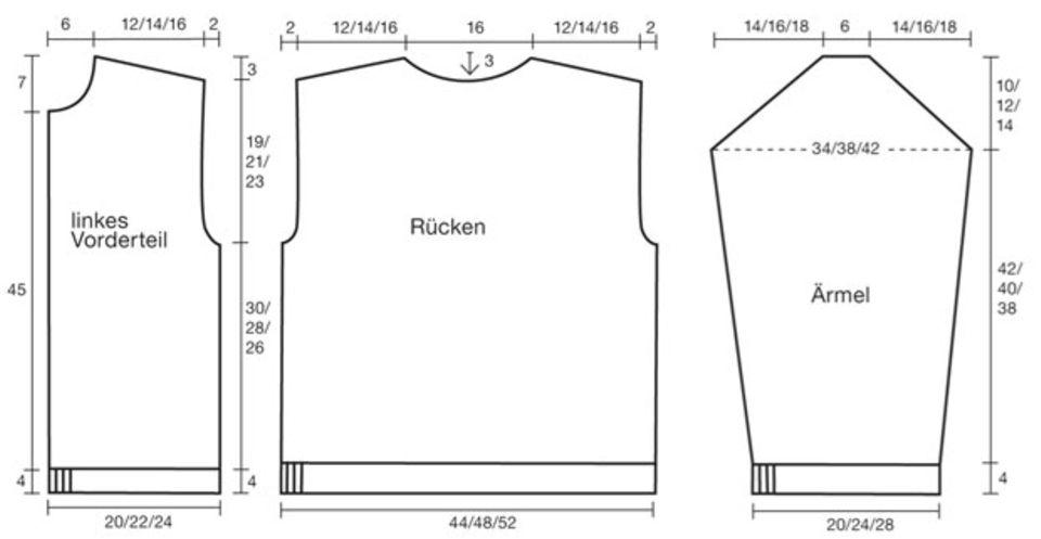 Trachtenjacke stricken - eine Anleitung