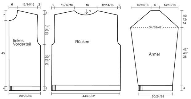 Strickmuster: Trachtenjacke stricken - eine Anleitung