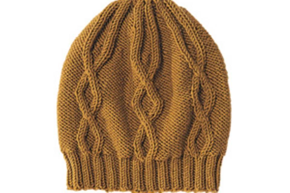 Mütze mit Rautenmuster: Anleitung zum Stricken