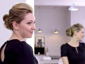 Frisuren-Tutorial: Toupierter Dutt mit Tolle