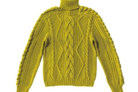Pullover mit Zopfrautenmuster stricken