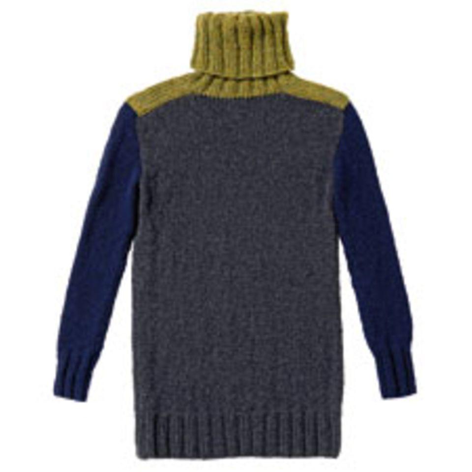 Dreifarbigen Pullover stricken