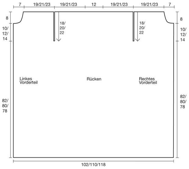 Strickmuster: Dicker Strickmantel - eine Anleitung zum Nachstricken