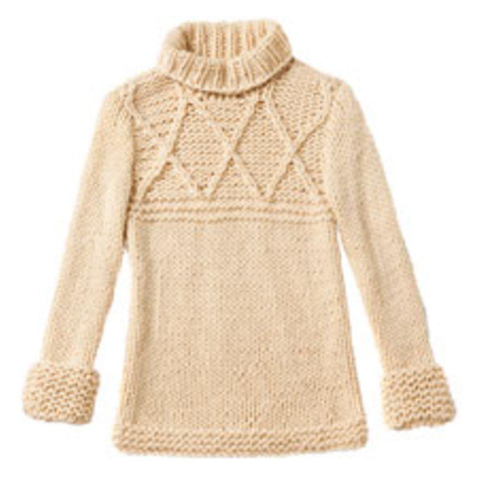 Rautenpullover aus Schurwolle stricken