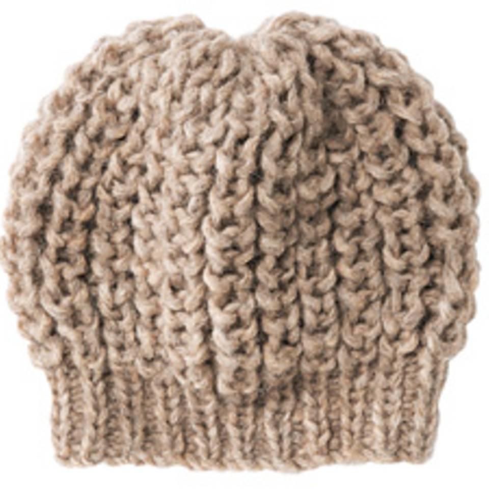 Mütze im Patentmuster mit Bündchen stricken