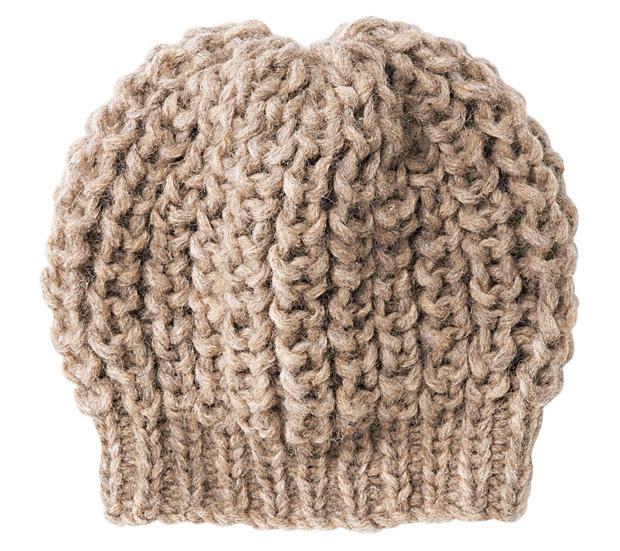 halbpatent mütze stricken