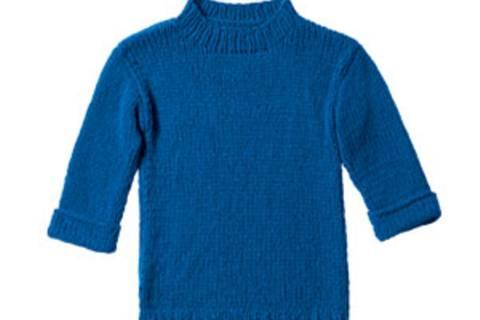 Blauer Strickpulli - Anleitung zum Nachstricken