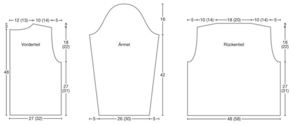 Jacke mit Zopfmuster: Anleitung zum Nachstricken