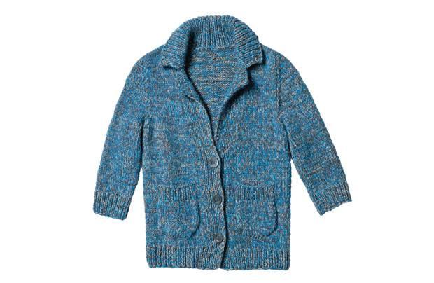 Strickmuster: Blau melierte Jacke stricken - Anleitung und Muster ...
