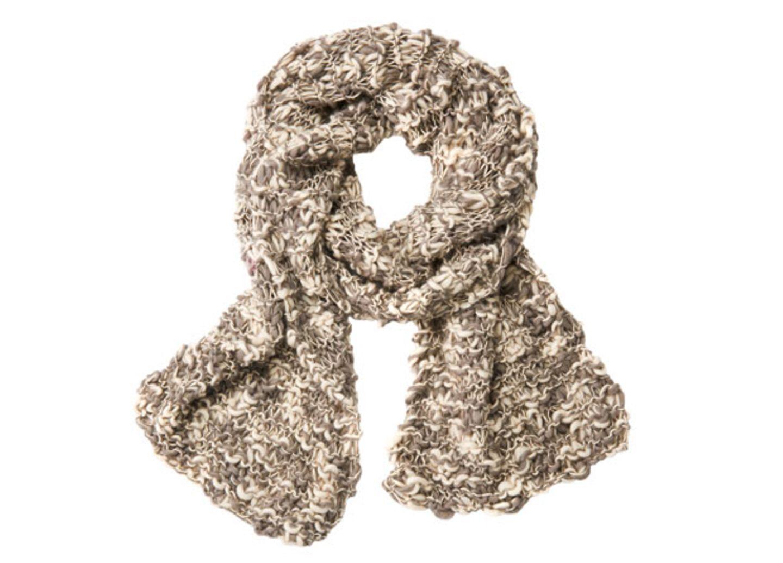 Grau-weißer Schal - eine Strickanleitung