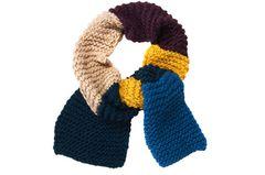 Colourblocking-Schal stricken
