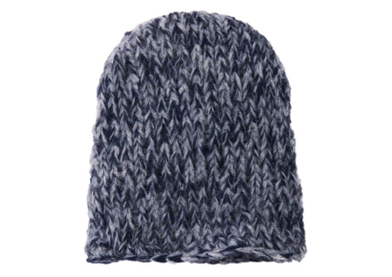 Blau-graue Mütze stricken - eine Anleitung