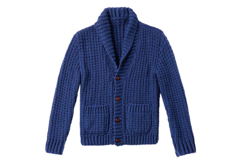 Schalkragen-Strickjacke für Männer stricken