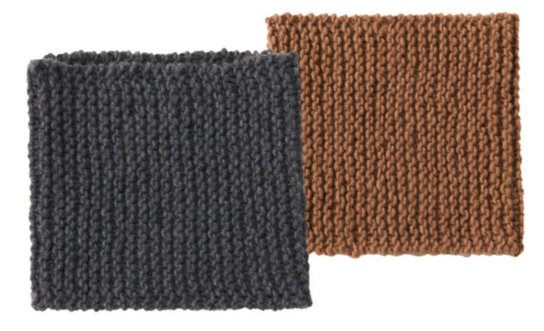 Kaschmir-Loopschal stricken - eine Größe für alle