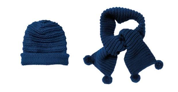 Strickmuster: Mütze und Schal mit Rippenmuster stricken | BRIGITTE.de