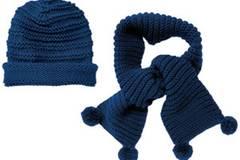 Mütze und Schal mit Rippenmuster stricken